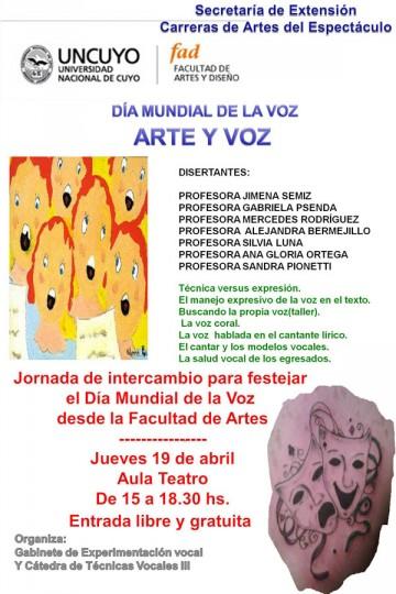 Jornada de intercambio para festejar el Día Mundial de la Voz desde la Facultad de Artes