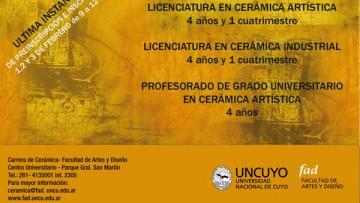Carreras de Cerámica - Ingreso 2012