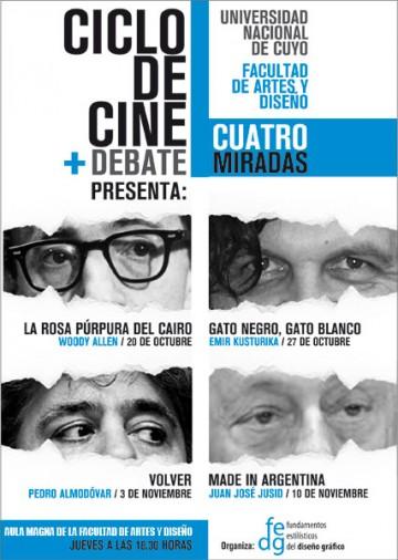 Cuatro Miradas en el Ciclo de Cine + Debate