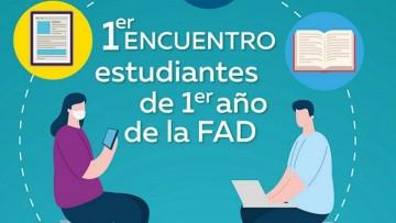 Encuentro virtual de estudiantes de 1° año de la FAD