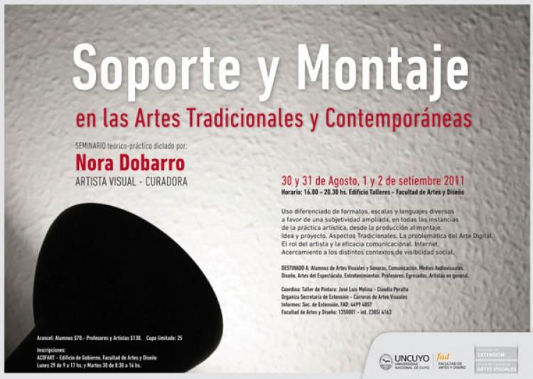 Soporte y Montaje en las Artes Tradicionales y Contemporáneas.