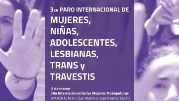 Paro Internacional de Mujeres, Niñas, Adolescentes, Lesbianas, Trans y Travestis