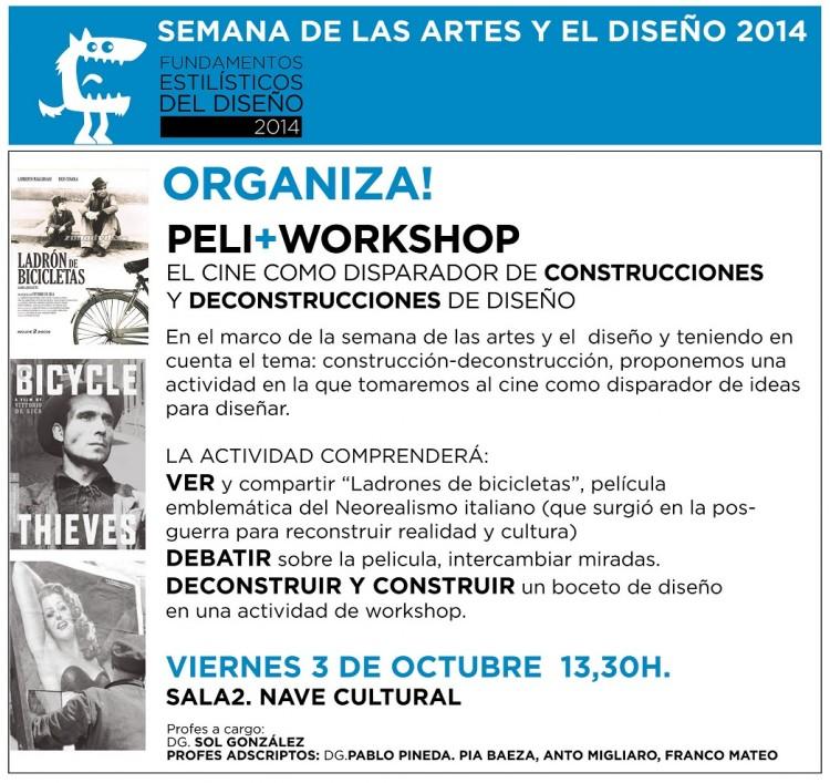 Cine - debate + Workshop en la Semana de las Artes