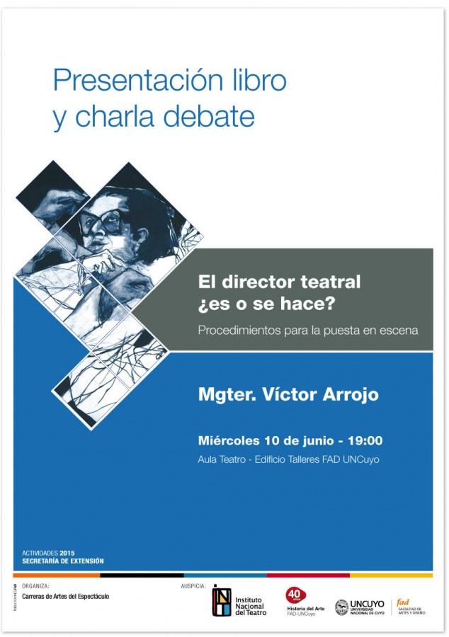Flyer Presentación de libro Víctor Arrojo