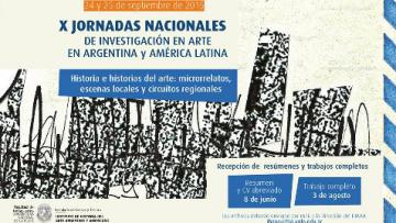 X Jornadas de Investigación en Arte en Argentina y América Latina