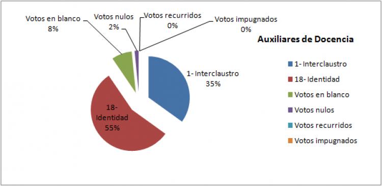 Constitución Consejo Directivo: Auxiliares