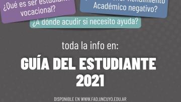 Consultá desde aquí la guía estudiantil 2021