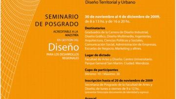 Prorrogado en el dictado del seminario EL DISEÑO EN EL CONTEXTO CULTURAL LATINOAMERICANO