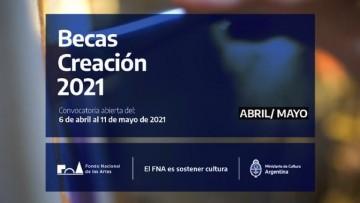 Becas Creación 2021 para proyectos artísticos culturales