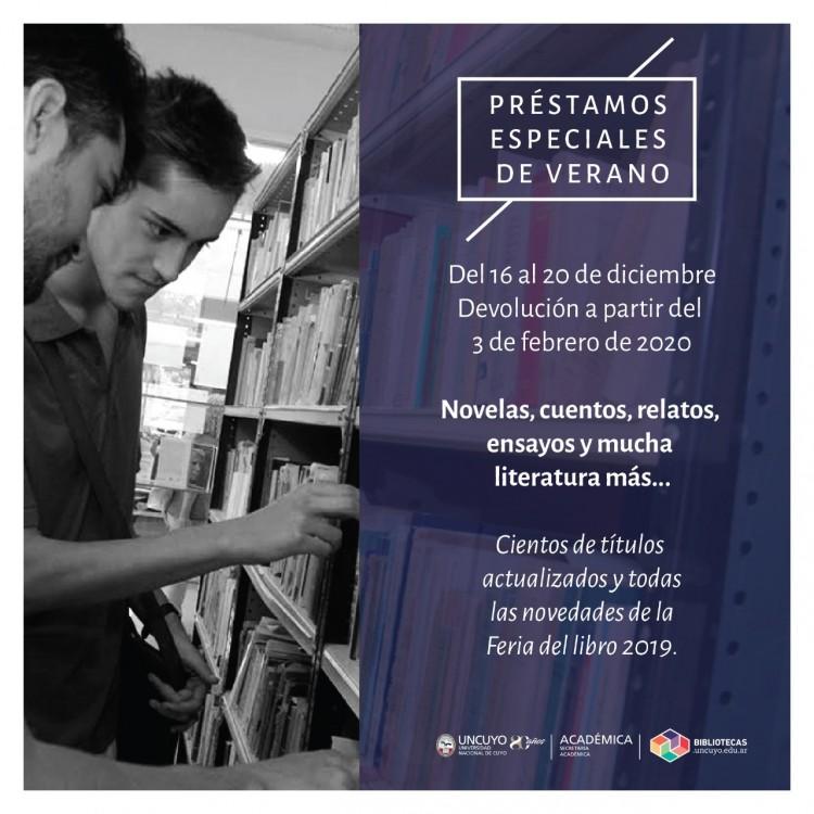 Préstamos de verano de la Biblioteca Central de la UNCUYO