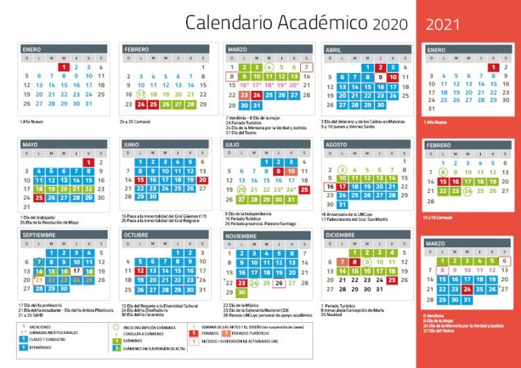 Calendario Académico 2020 -2021