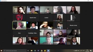 Estudiantes de 1°año dialogaron virtualmente sobre inquietudes de la vida universitaria