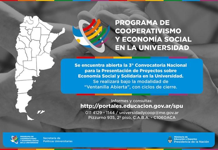 3°Convocatoria Nacional para presentar proyectos sobre Economía Social y Solidaria