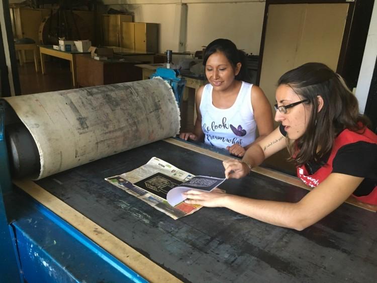 Estudiantes del Ciclo de Formación Básica en Artes Visuales visitaron la Facultad