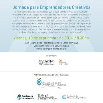 Realizarán la Jornada del Emprendedor Creativo