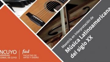 Nueva prórroga del plazo de preinscripción para la VI cohorte de la Maestría en Interpretación de Música Latinoamericana del siglo XX