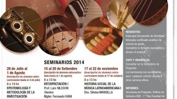 Seminarios 2014 de la Maestría en Interpretación en Música Latinoamericana
