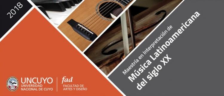 Se encuentra abierta la inscripción a la Maestría en Interpretación de Música Latinoamericana del siglo XX