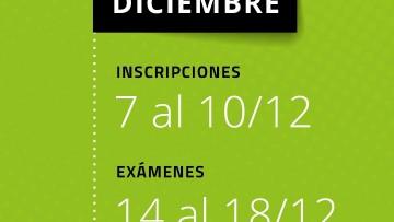 Estas son las fechas de las mesas de diciembre