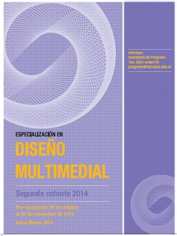 Se prorroga la inscripción para la Especialización en Diseño Multimedial