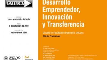 Nueva Cátedra Promocional de Desarrollo Emprendedor, Innovación y Transferencia.