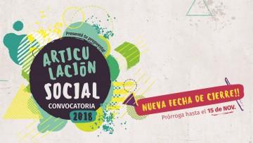 Prorrogan cierre de la convocatoria 2018 de Articulación Social