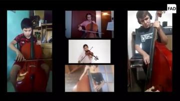 En apoyo a la educación artística, estudiantes y docentes de Música trabajaron junto al CAE Jorge Contreras