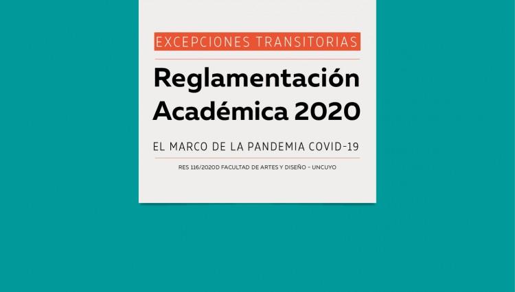 Modificaciones transitorias en la Reglamentación Académica 2020