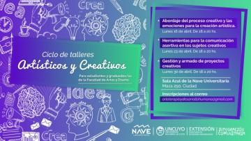 Dictarán talleres creativos para estudiantes y graduados de la FAD