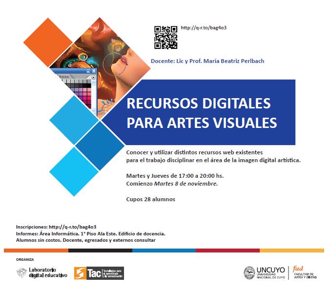 CURSOS ANTERIORES Recursos digitales para Artes Visuales