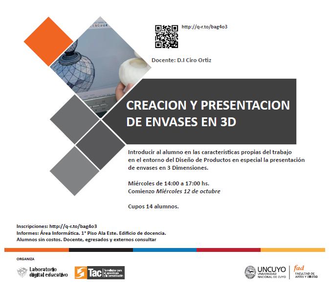 Creación y presentación de envases en 3D