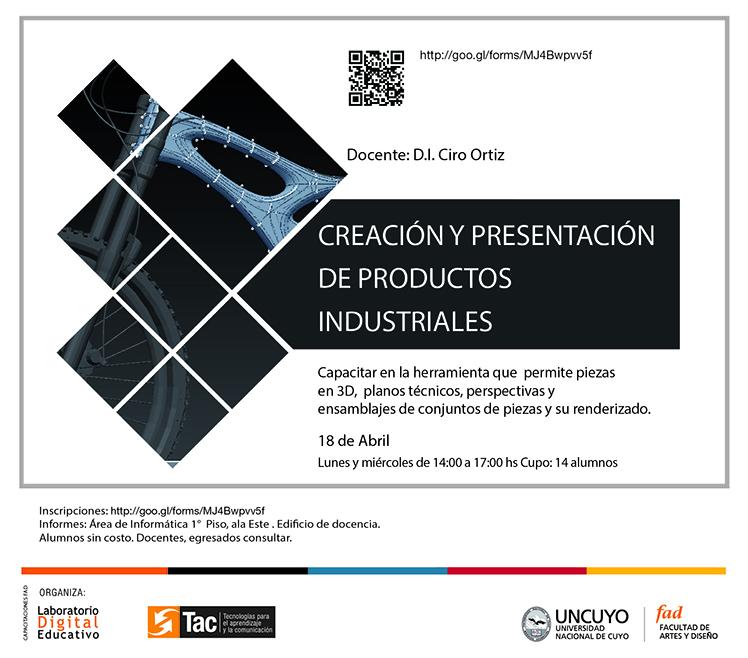 CURSOS ANTERIORES Creación y presentación de productos industriales